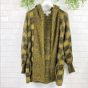 Vintage Chunky Oversized Hooded Cardigan Sweater M